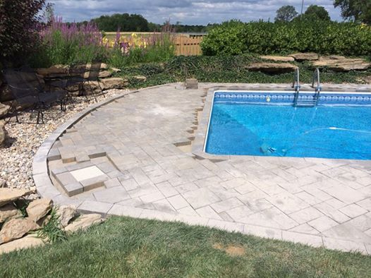 patio paver pool installation overland park