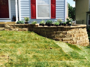 Retaining Wall Flower Bed Kansas City Landscaping