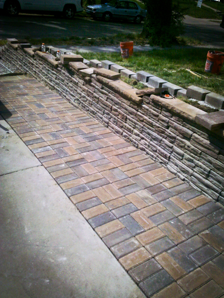 walkways construction brick kansas city missouri