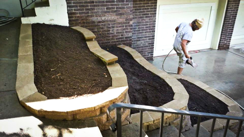 raised flower bed installation