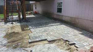 Patio construction garden city missouri landscape brick