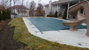 Pool Remodeled Landscape Lenexa Kansas