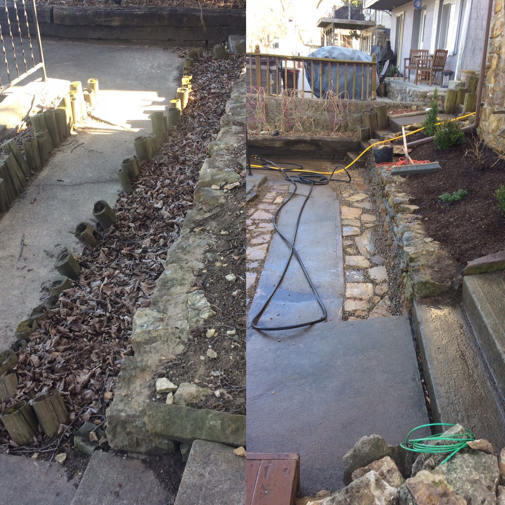 Lake Lotwanna Natural Stone Walkway Installation
