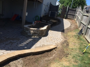 Brick Walkway Landscaping Kansas City Missouri Construction