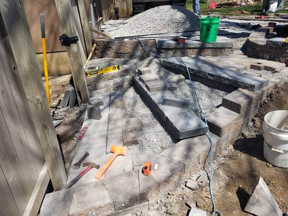 Hardscape Patio In Lake Lotawana, MO