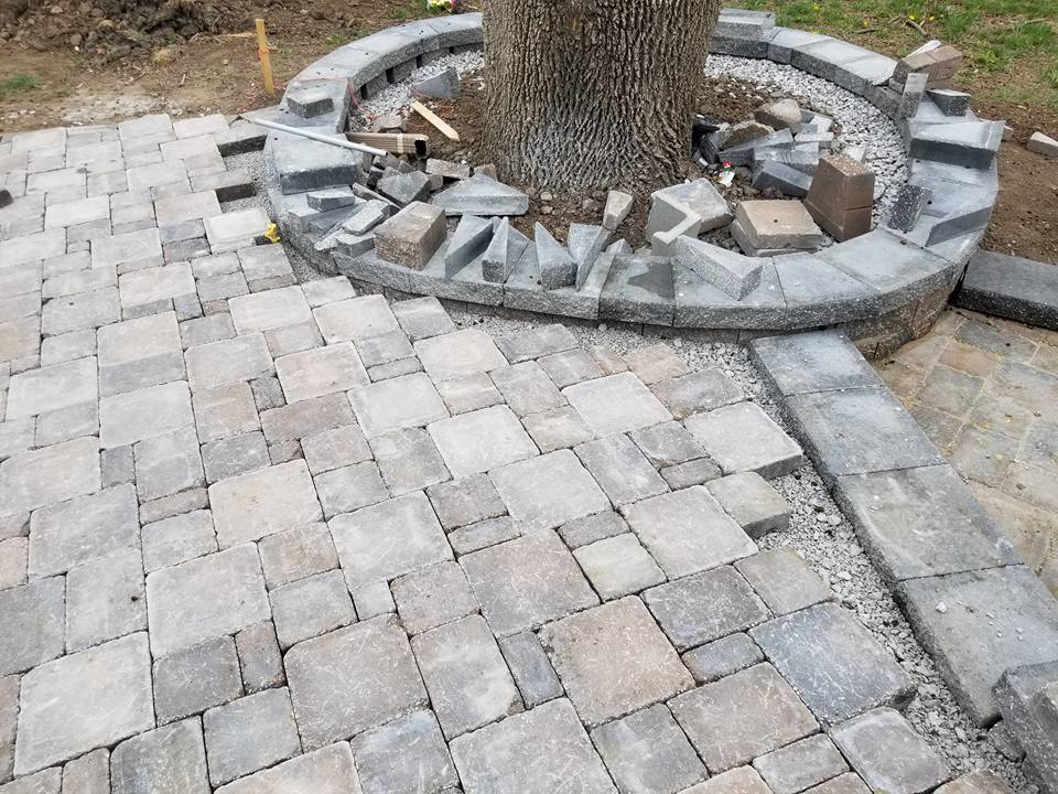 Patio with Pavers in Overland Park, KS